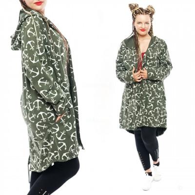 cardigan sweat damen mantel Übergangsjacken anker mit kapuze