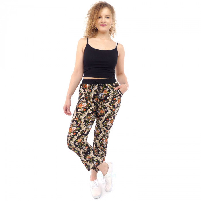 Flowers summer pants leisure beach spring S/M L/XL