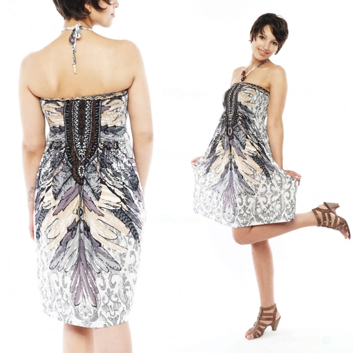 Bandeau Dress Beach Dress Cloth Dress Boho Evening Dress