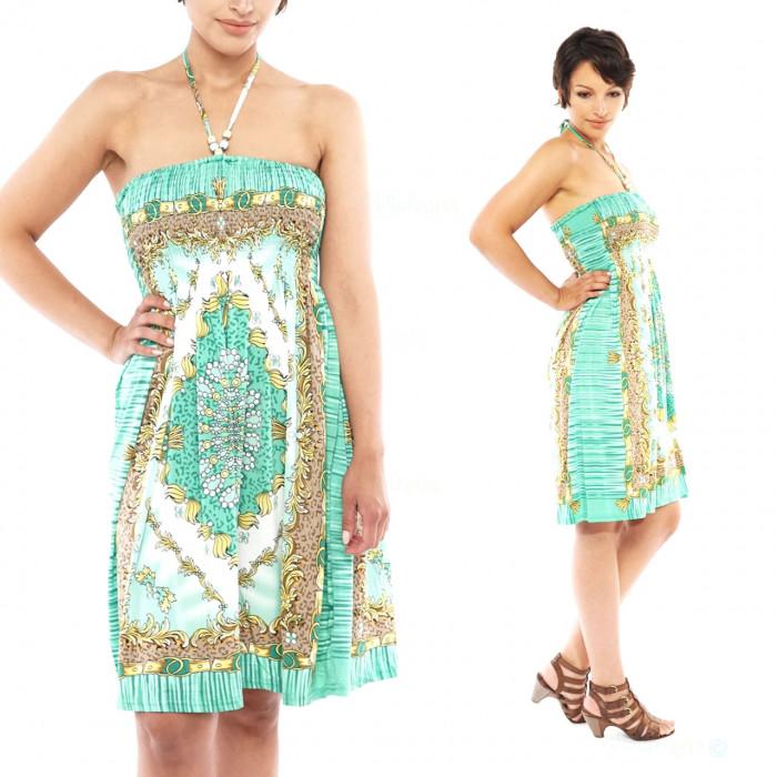 Boho sleeveless cloth beach evening dresses