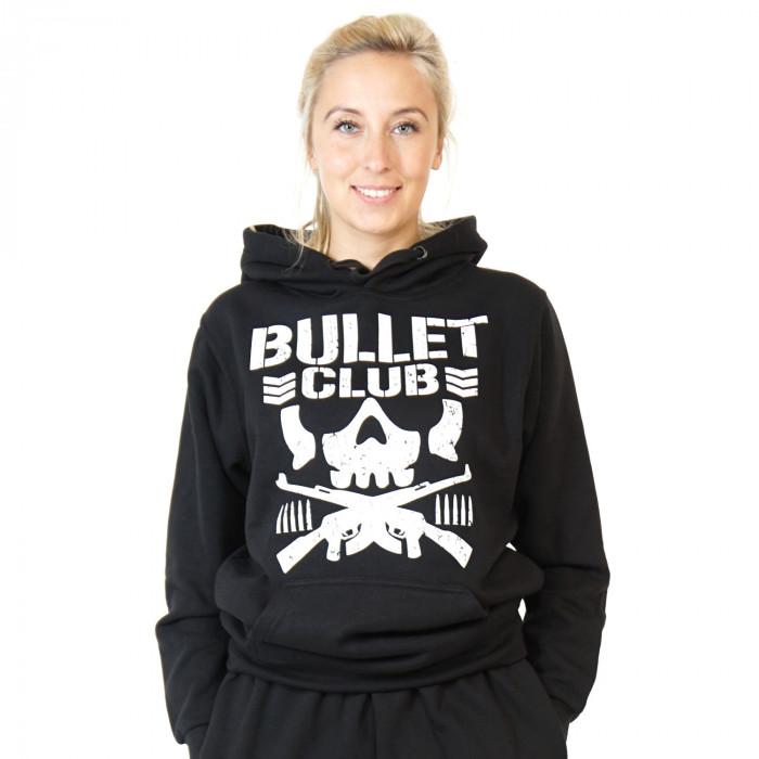 Bullet Club pullover hoodie skull rifles