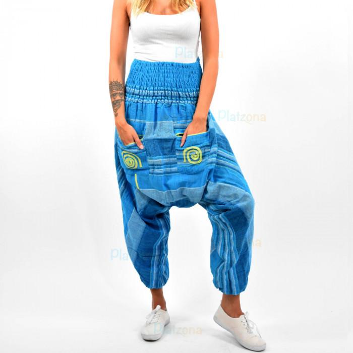 Nepal Harem Aladdin Pump Hippie Trance Pants  Bloomers Cotton