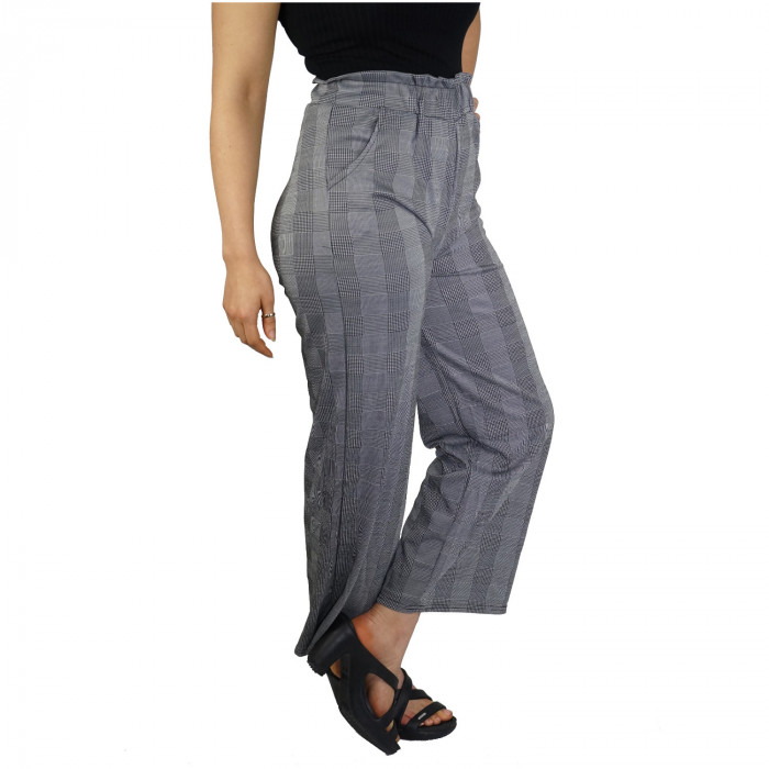 Ladies business trousers finely checked  pattern
