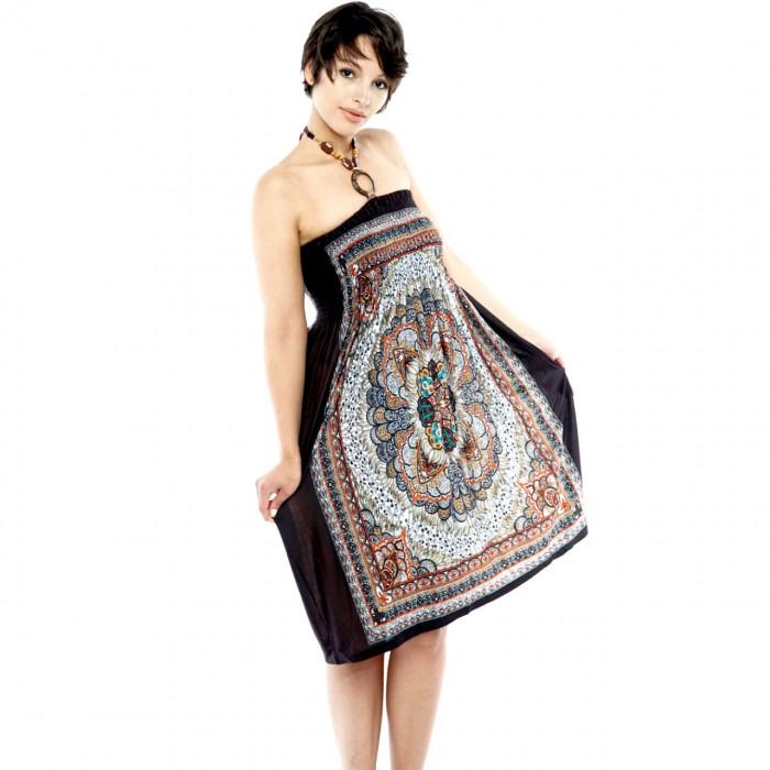 Sleeveless bandeau beach cloth evening dress