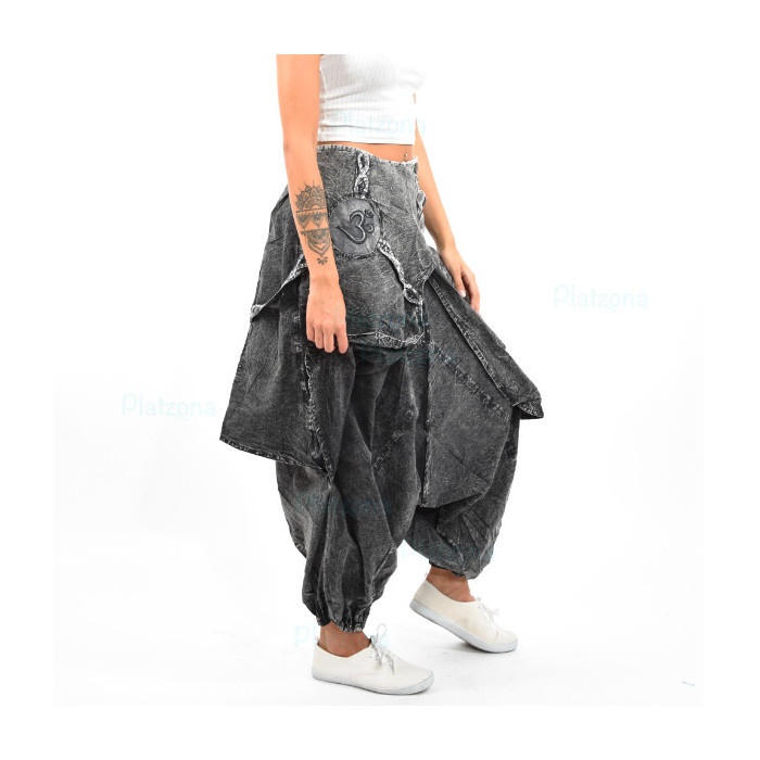 Nepal Harem Pump Hippie Trance Pants Bloomers baggy unisex Grey jeans