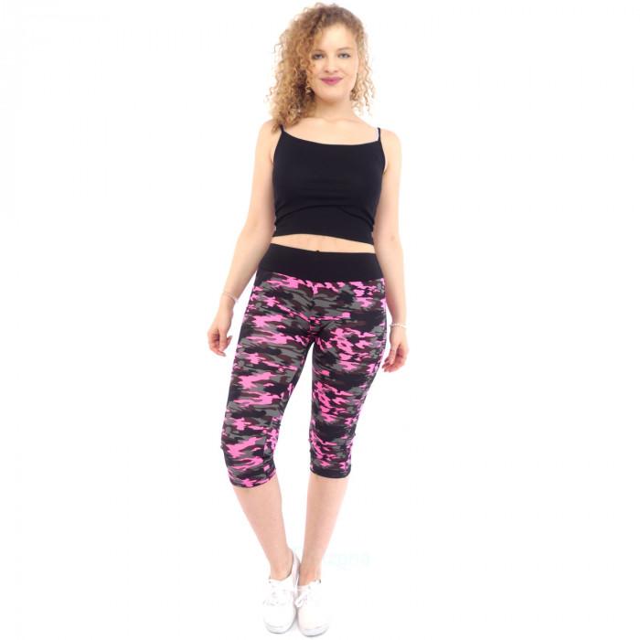 Women's Leggings Sports Pants Sport Leggings Sport Camouflage XL/XXL