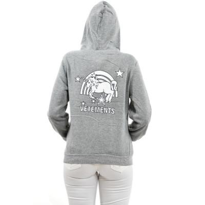 Damen Jacke Übergangsjacke Hoodie, sportlich Unicorns and rainbows Vetements Nieten