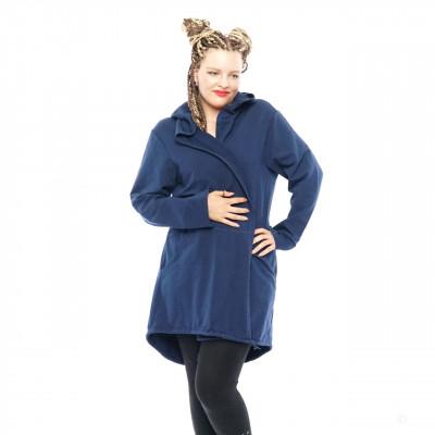 Damen Cardigan Mantel Sweat Jacke Kapuze Vintage Parka Nieten Totenkopf Strass Streifen