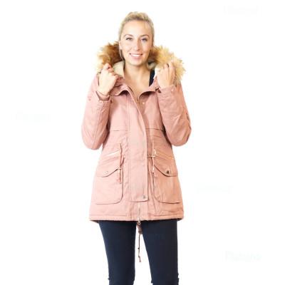 Damen  JACKE PARKA ÜBERGANGSJACKE Winterjacke Kapuze  MANTEL in verschiedene Farben