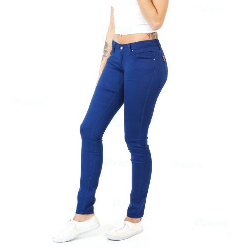 Damen Jeans Hose Blau Navy Leopard Leo