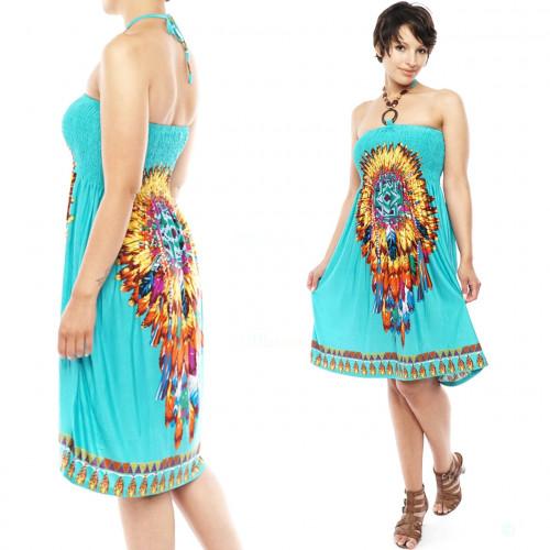 Strandkleid Tuchkleid boho Abendkleid
