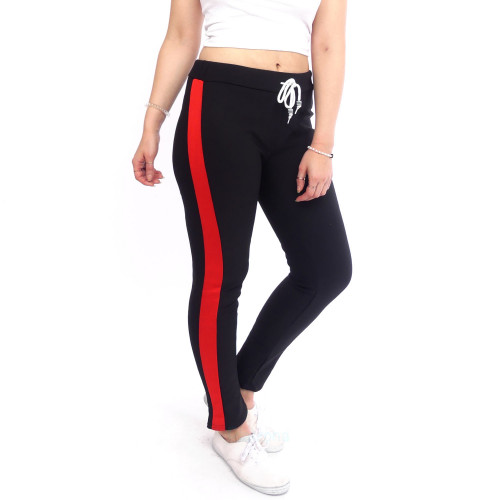 damen Sporthose Sportleggins Sport Jeggings Jogginghose warm Streifen