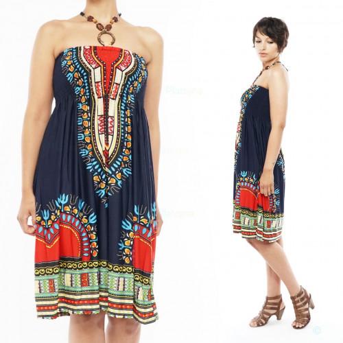 Holzperlen Elegante Damen Bandeau Kleid
