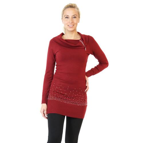Pullover Extra lang mit Nieten