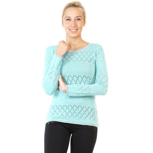 Damen Pullover Strick schnürbar