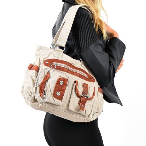 Lässige Handtasche Damen Tasche Schultertasche Stofftasche