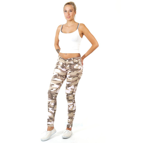 Damen Jeans Frühling Sommer Herbst Winter Army Camouflage Hose