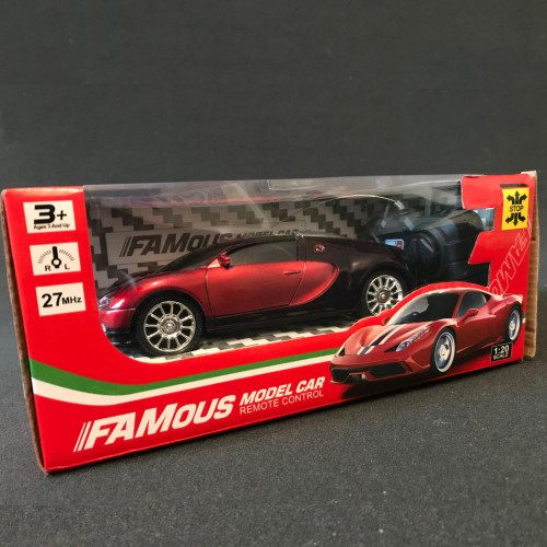 Famous 1/20 Scale Remote Model  control RC  Racing Car Auto Rot schwarz