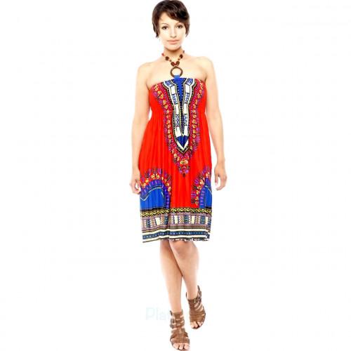 Holzperlen Elegante Bandeau Kleid
