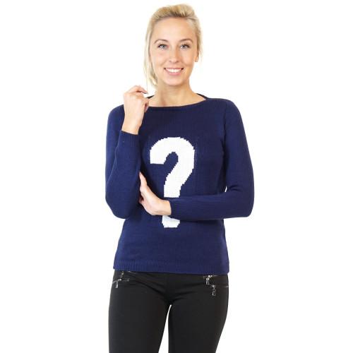 Damen Pullover Fragezeichen