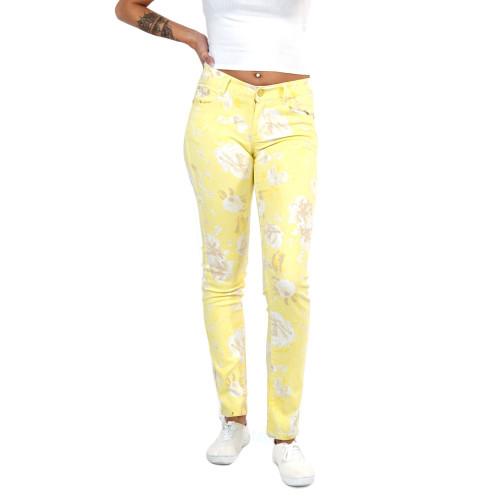 Damen Jeans Frühling Sommer  Hose Gelb