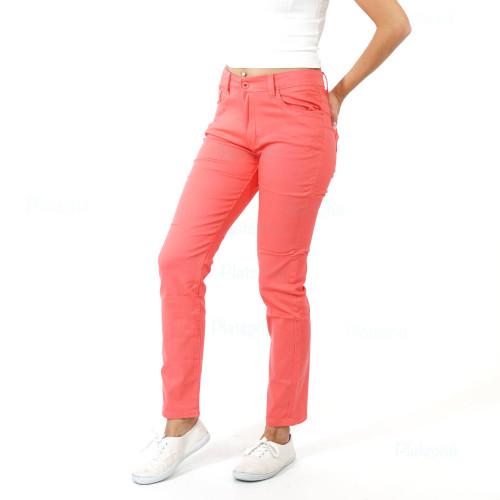 Damen Jeans Frühling Sommer Herbst Winter Hose Pink Große Größen