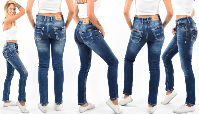 High Waist Damen Jeans